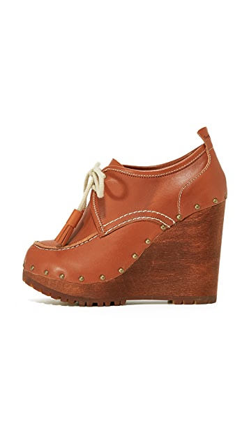 See by Chloe Clive Wedge Clog Booties