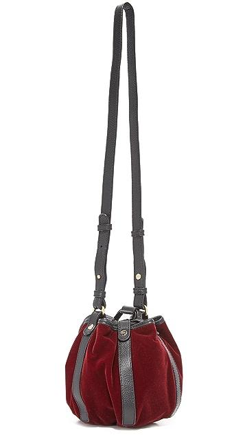 See by Chloe Velvet Vicki Mini Bucket Bag