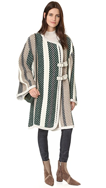 See by Chloe Oversized Striped Coat