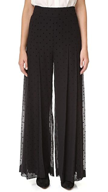 See by Chloe Wide Leg Polka Dot Trousers