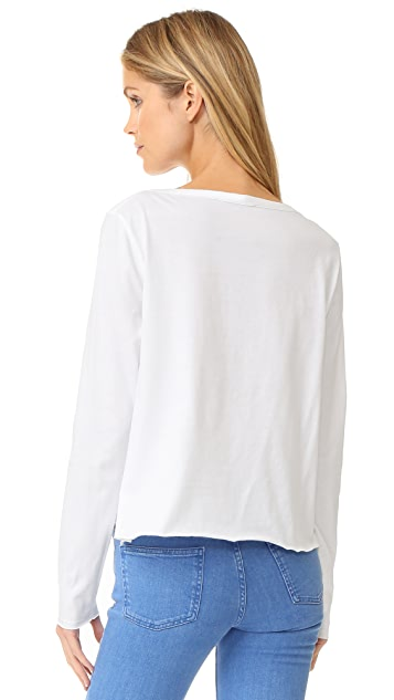 See by Chloe Scallop Trim Tee