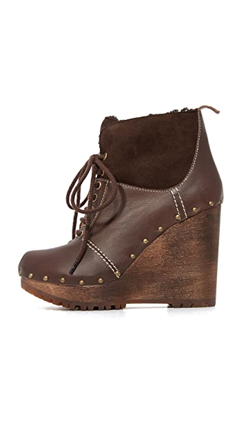 See by Chloe Clive Platform Lace Up Booties