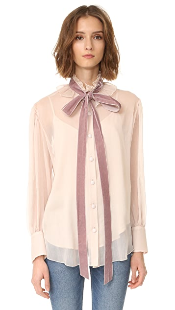 See by Chloe Tie Neck Blouse