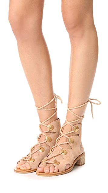 See by Chloe Bill Lace Up Sandals