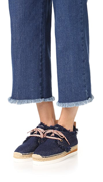 See by Chloe Denim Espadrille Sneakers