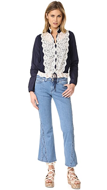See by Chloe Lattice Jeans