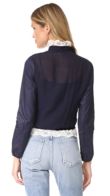 See by Chloe Lace Front Blouse