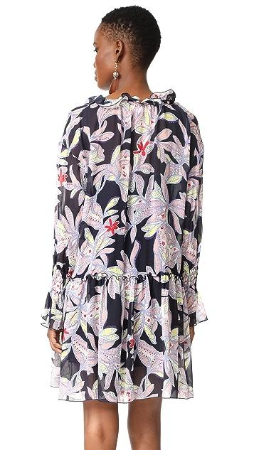 See by Chloe Ruffle Long Sleeve Dress