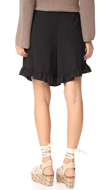 See by Chloe Ruffle Bottom Shorts