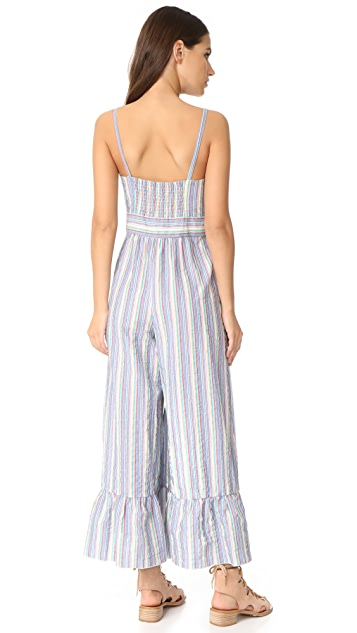 See by Chloe Ruffle Bottom Overalls
