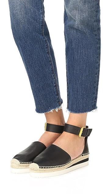 See by Chloe Glyn Espadrille Wedge Sandals