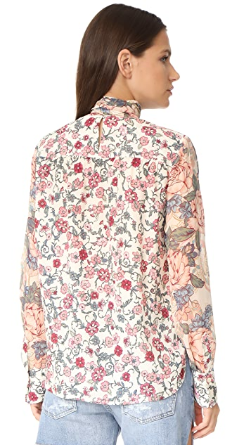 See by Chloe Printed Pussy Bow Blouse