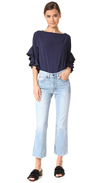 See by Chloe Ruffle Sleeve Pullover