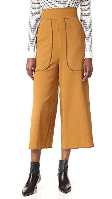 See by Chloe Cropped Wide Leg Trousers