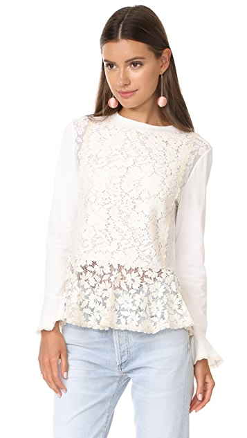 See by Chloe Lace Pullover