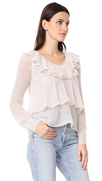 See by Chloe Ruffle Neck Pullover
