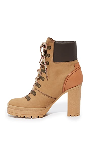 See by Chloe Eileen Lace Up Boots