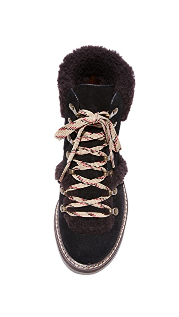 See by Chloe Eileen Flat Shearling Boots