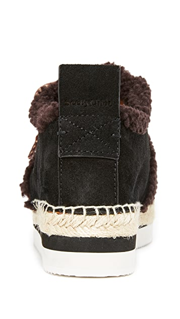See by Chloe Glyn Shearling Sneakers
