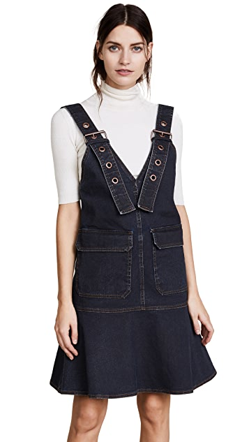 See by Chloe Overall Denim Dress