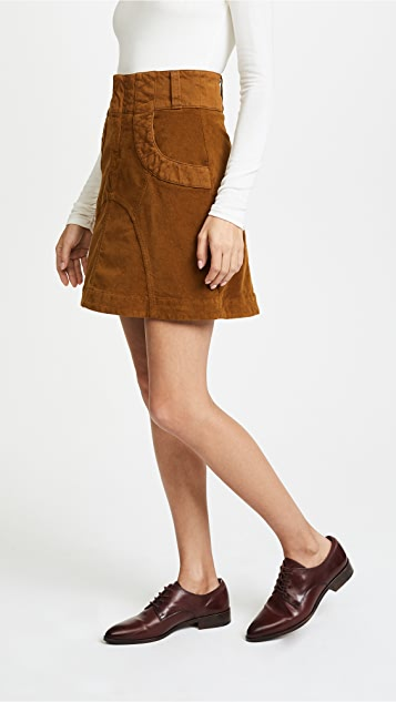 See by Chloe Velvet Skirt
