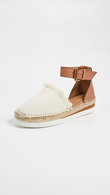 Glyn Flat Espadrille in Blue. - size 36 (also in 35,37,39) See By Chloé