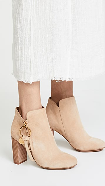 Chloé Louise Stacked Heel Booties