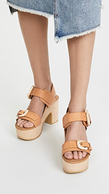 See by Chloe Rafia Platform Sandals
