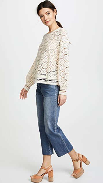 See by Chloe Ornamental Lace Top