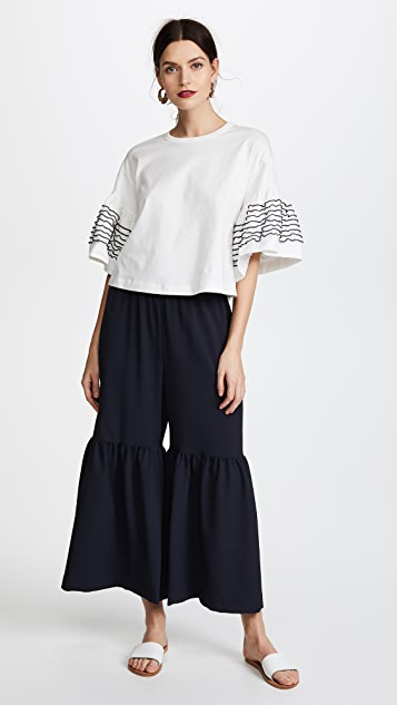 See by Chloe Crepe & Ribbon Pants