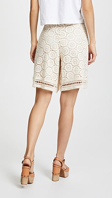 See by Chloe Ornamental Lace Shorts