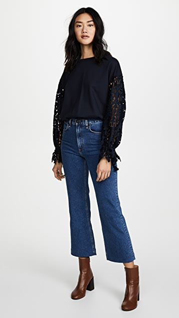 See by Chloe Jersey Lace Top