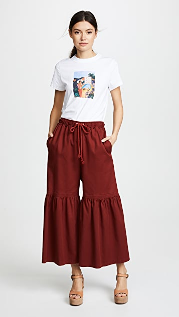 See by Chloe Fluid Denim Rope Pants