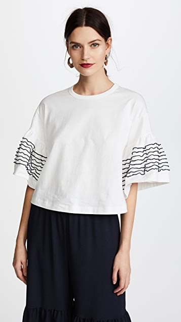See by Chloe Frill Top