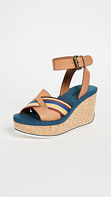 See by Chloe Mina Cork Wedge Sandals