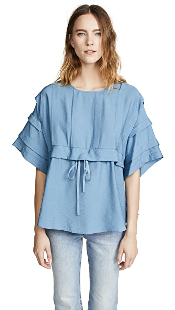 See by Chloe Pleated Top