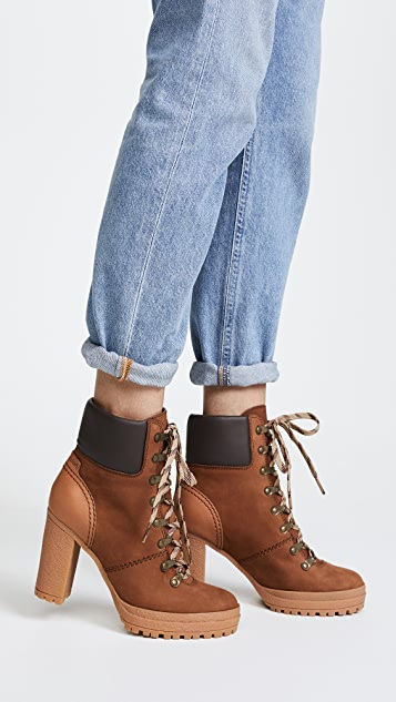 ... See by Chloe Eileen Lace Up Boots ...
