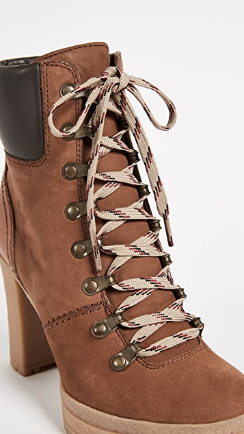 See by Chloé Beige Eileen Lace-Up Boots buy cheap great deals best online buy cheap discounts outlet locations cheap price ECIdB