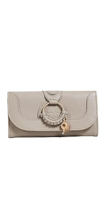See by Chloe Hana Continental Wallet - Motty Grey