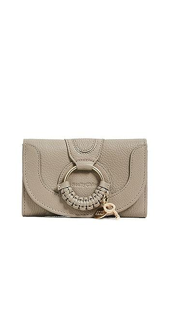 See by Chloe Hana Compact Wallet - Motty Grey