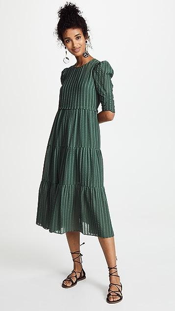 be1a748344 Pouf Sleeve Maxi Dress