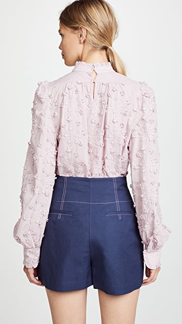 See by Chloe Balloon Sleeve Blouse With Detailing
