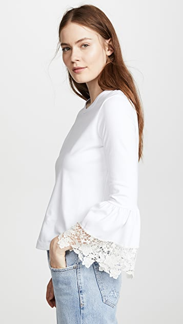 See by Chloe Lace Trim Tee