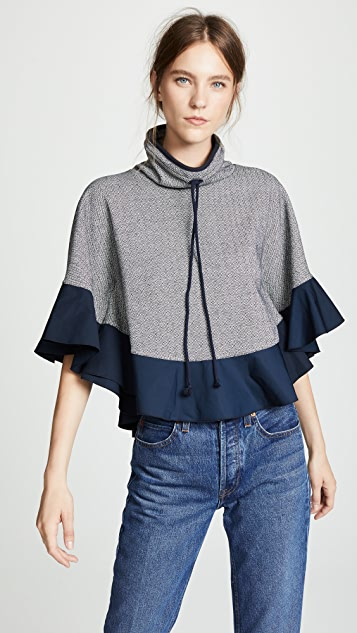 See by Chloe Poncho Sweater