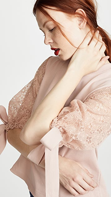 See by Chloe Lace Puff Sleeve Top