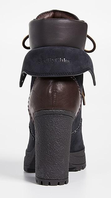 See by Chloe Ботильоны Eileen на высоком каблуке