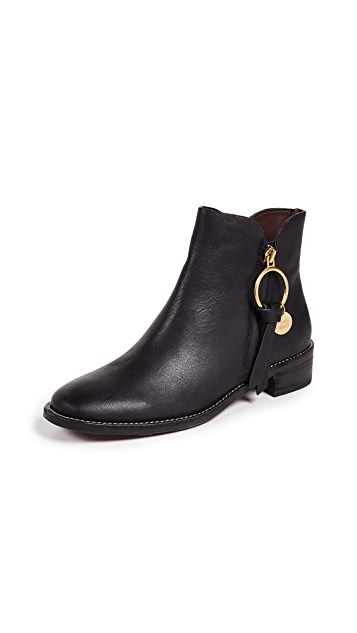 See by Chloe Louise Flat Signature Boots