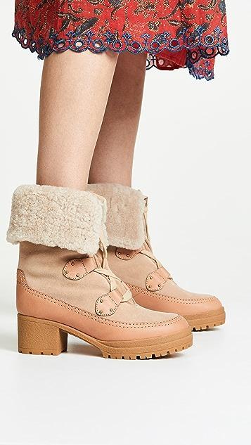 See by Chloe Verena Mid-Heel Booties