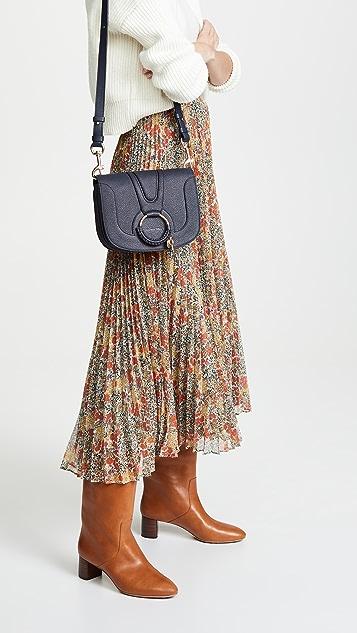 See by Chloe Hana Saddle Bag with Fur Strap