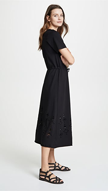 See by Chloe Cinched Waist Distressed Dress